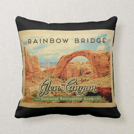 Glen Canyon National Recreation Vintage Travel Throw Pillow