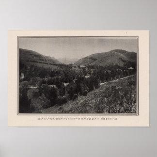 Glen Canyon, picos gemelos, San Francisco Poster