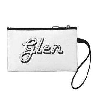 Glen Classic Retro Name Design Coin Wallet