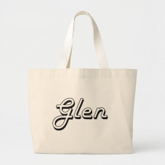 Glen Classic Retro Name Design Jumbo Tote Bag