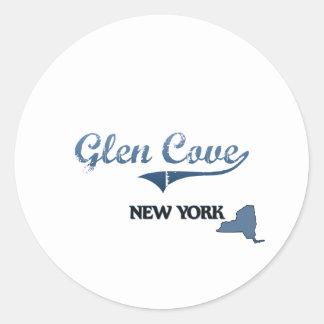 Glen Cove New York City Classic Round Stickers