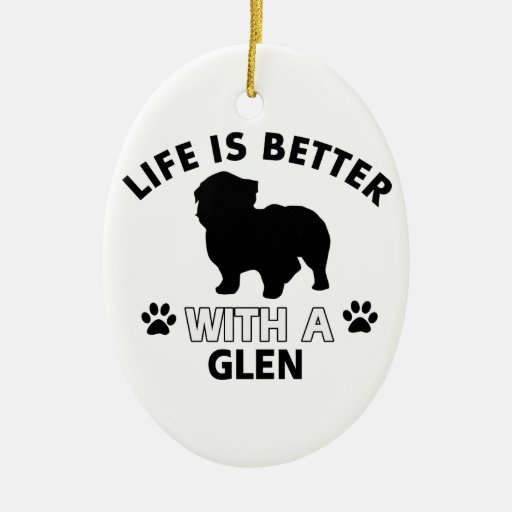 Glen designs Double-Sided oval ceramic christmas ornament