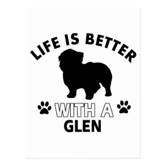 Glen designs postcard