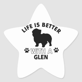 Glen designs star sticker