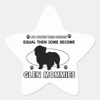 Glen dog designs star sticker
