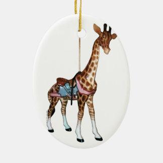 Glen Echo Carousel Giraffe Ceramic Ornament