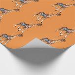 Glen Echo Giraffe - orange Wrapping Paper