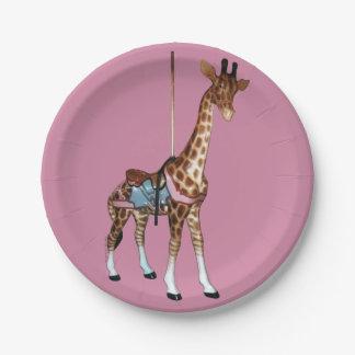 Glen Echo Giraffe Paper Plate