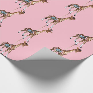 Glen Echo Giraffe -pink Wrapping Paper