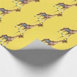 Glen Echo Giraffe - yellow Wrapping Paper