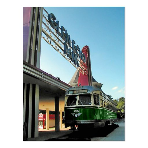 Glen Echo Park and Trolley Post Card