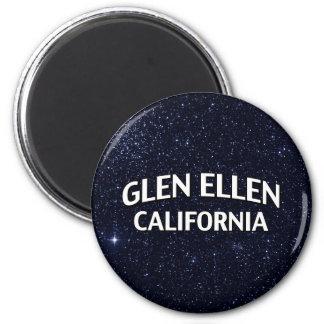 Glen Ellen California 2 Inch Round Magnet