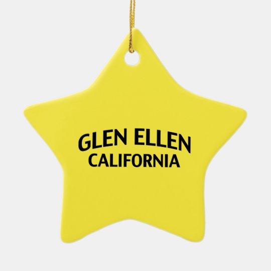 Glen Ellen California Ceramic Ornament