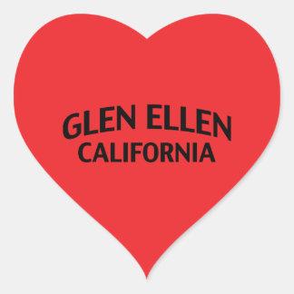 Glen Ellen California Heart Sticker