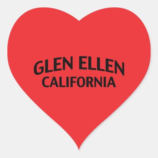 Glen Ellen California Heart Stickers