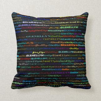 Glen Ellyn Text Design I Throw Pillow