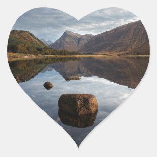 Glen Etive, Glencoe Scotland Heart Sticker