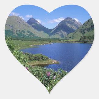 Glen Etive Scotland Heart Sticker