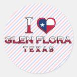 Glen Flora, Texas Round Stickers