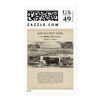 Glen Galloway Ranch, Oberlin, Kansas Postage