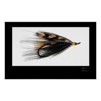 Glen Grant Salmon Fly Poster