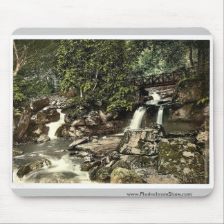 Glen Lyn., falls and upper bridge, Lynton and Lynm Mouse Pad