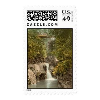 Glen May Waterfall, Peel, Isle of Man, England Postage Stamp