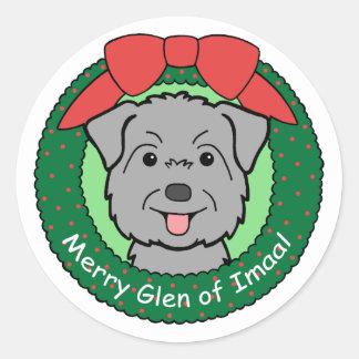 Glen of Imaal Christmas Round Sticker