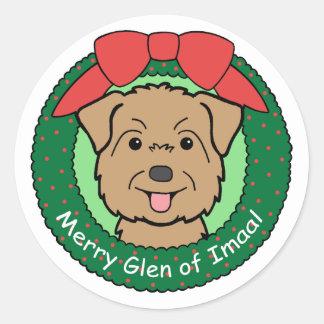 Glen of Imaal Christmas Stickers