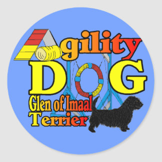 Glen_of_Imaal_Terrier_Agility Sticker