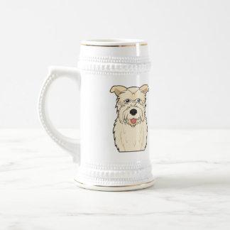 Glen of Imaal Terrier Cartoon Beer Stein