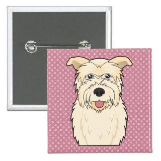 Glen of Imaal Terrier Cartoon Pin