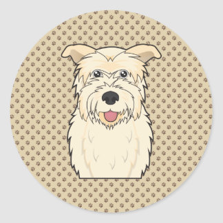 Glen of Imaal Terrier Cartoon Classic Round Sticker