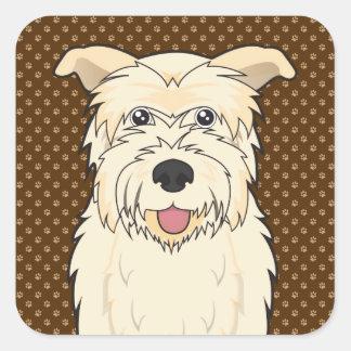 Glen of Imaal Terrier Cartoon Paws Square Sticker