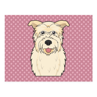 Glen of Imaal Terrier Cartoon Postcard