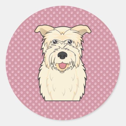 Glen of Imaal Terrier Cartoon Round Sticker
