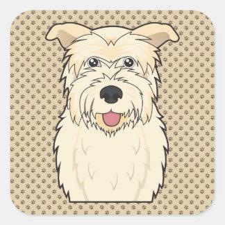 Glen of Imaal Terrier Cartoon Square Sticker