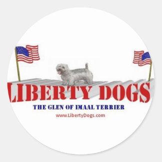 Glen of Imaal Terrier Classic Round Sticker