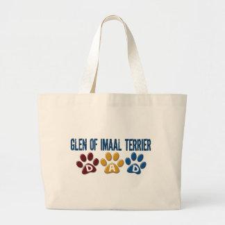 GLEN OF IMAAL TERRIER Dad Paw Print 1 Jumbo Tote Bag