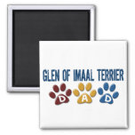 GLEN OF IMAAL TERRIER Dad Paw Print 1 Refrigerator Magnets