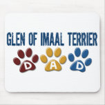 GLEN OF IMAAL TERRIER Dad Paw Print 1 Mouse Mat