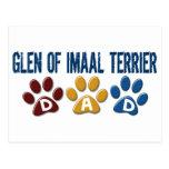 GLEN OF IMAAL TERRIER Dad Paw Print 1 Post Cards
