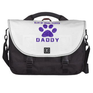 Glen of Imaal Terrier Daddy Gifts Designs Laptop Messenger Bag