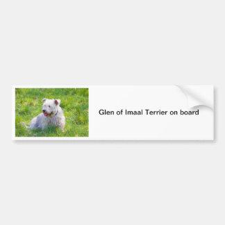 Glen of Imaal Terrier dog bumper sticker, gift