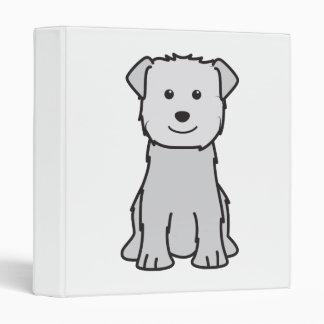Glen of Imaal Terrier Dog Cartoon Binder