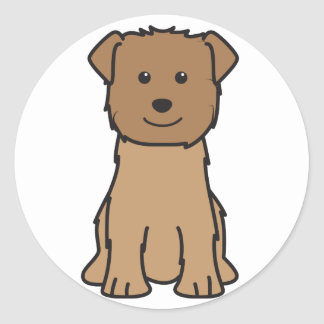 Glen of Imaal Terrier Dog Cartoon Classic Round Sticker