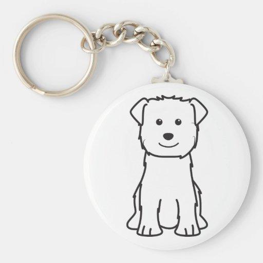 Glen of Imaal Terrier Dog Cartoon Keychains
