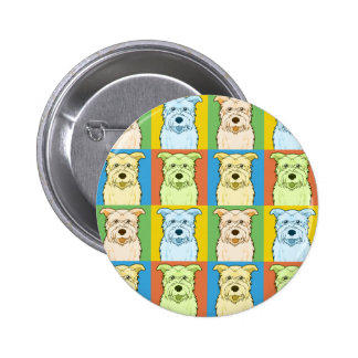 Glen of Imaal Terrier Dog Cartoon Pop-Art Pinback Button