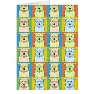 Glen of Imaal Terrier Dog Cartoon Pop-Art Card