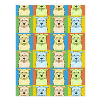 Glen of Imaal Terrier Dog Cartoon Pop-Art Postcard